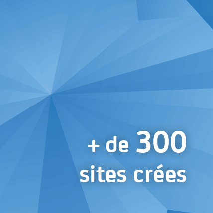 + de 300 sites créés